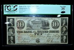 1837 10 Obsolete ✪ Bank Of The United States ✪ Philadelphia 3rd 3-g4 ◢trusted◣