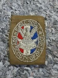Eagle Scout Rank Badge Type 2 Tan Sand Twill Boy Scouts Bsa