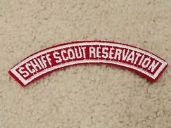 Schiff Scout Reservation Rwh Red White Half Strip Rws New Jersey Boy Scouts Bsa