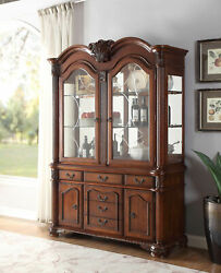 Acme Chateau De Ville Hutch And Buffet In Cherry Finish 04079