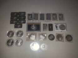 🔥huge Lot Of Rounds And Bars 1oz And 2oz 999 Fine Silver Collectible Horde 🔥 30ozt