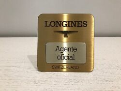 Plate Agent Official Longines Official Agent Plaque - Metal - Watches Collectors
