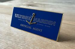 Plate Ulysse Nardin Plaque - Metal - Agent Official Agent - Watches Collectors