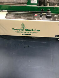 Green Machine Thermo-type 13000 With Quad 12 Business Card Slitter