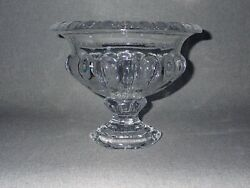 Eapg 8 Boston And Sandwich Glass Floriform Compote Urn Hexagonal Footed Bowl