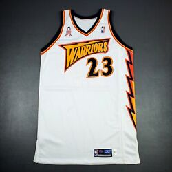 100 Authentic Jason Richardson Rookie 01 02 Game Issued Warriors Jersey 911