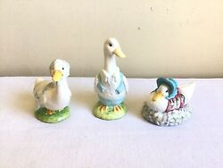 Lot Of 3 Beatrix Potter Royal Doulton Beswick England F. Warne And Co. Figurines