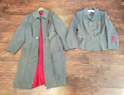 Wwii American Red Cross Arc Women's Uniform Service Tunic And Dress Overcoat