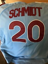 Mike Schmidt Mlb Philadelphia Phillies Jersey 20, Hall Of Fame, Autographed