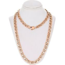 14k Rose Gold Solid Anchor Mariner Link Chain Necklace 28 7.7mm 73.5 Grams