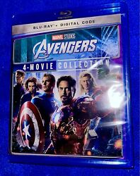 AVENGERS 4 Movie Collection Blu ray Like New NO DIGITAL