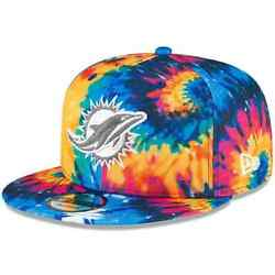 New Miami Dolphins New Era Multi-color 2020 Crucial Catch 9fifty Snapback Hat