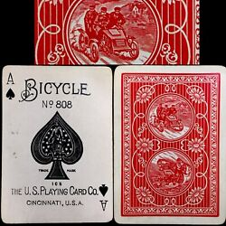 Historic Uspcc C1904 Bicycle 808 Antique Playing Cards Auto 2 Rare Poker Deck