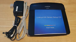 Linksys Ea3500 Cisco Dual Band N750 Wifi Router Bundle Adapter Cable And Cd