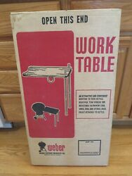 Rare Vtg Retro 70and039s Nos Weber Wt-19 Kettle Bbq Grill Work Table Attachment Nib