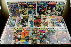 Lot Of 21 The Punisher Comic Books 1-1015-1820-23293334 Marvel 1987-1990