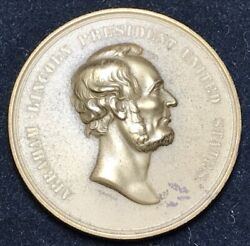 Abe Lincoln Emancipation Proclamation Us Mint Medal, Wm. Barber, Mint Re-strike