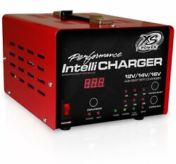 Xs Power 12/16 Volt 5/15/25 Amp Power Supply W/ Car Battery Intellicharger 1005