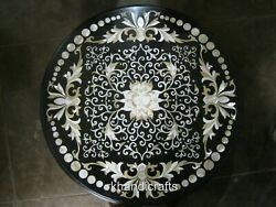 42 Inches Marble Dining Table Top With Peitra Dura Art Patio Table Floral Work
