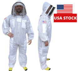 Xlarge 3 Layer Ultra Ventilated Beekeeping Suit Professional Bee Suit 3 Layer🐝