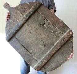 Incredible 33 Oversized Antique Early Primitive Bakery Wooden Dough Bread Board