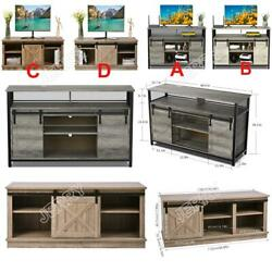 Sliding Barn Door Tv Stand For Tvand039s Up To 65 Flat Screen Entertainment Center