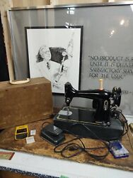 Vtg Mercury Electric Sewing Machine W/ Case Tested Runs Strong Works