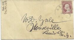George Washington - 25 1857 3c Dull Red Regular Issue Type I - On Cover