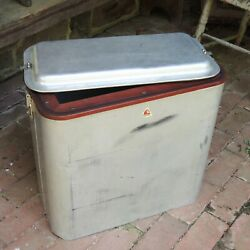Luscombe Vtg 1950s Aircraft Aluminum Ice Chest Drink Cooler Aviation Airstream