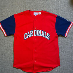 Vintage Starter St Louis Cardinals Mark Mcgwire Jersey Mens Large Mint From 90s
