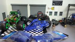 1/24 Blue Streak Monster Truck Conversion Kit With Wheels For Axial Scx24