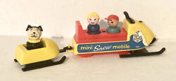 Vintage 1970and039s Fisher-price 705 Snowmobile W/trailer Complete