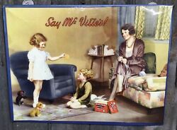 Rare Vintage 1930s Mcvities Biscuits Tin Over Cardboard Advertising Sign