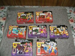 Transformers G1 Generations Deluxe Retro Headmaster Lot Of 7 -waves 1 And 2 Misp