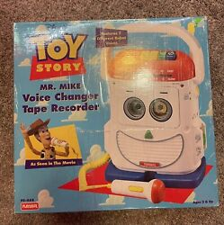 Playskool Pixar Toy Story Mr. Mike Voice Changer Tape Recorder 1996 Ps468