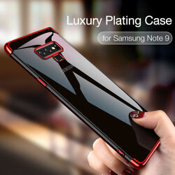 Soft Silicone Plating Case For Samsung Galaxy S20 Ultra S10 S9 Plus Note 8 9 10