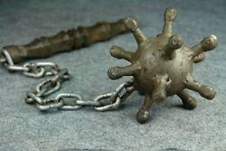 Ww1 German Trench Ball Fighting Flail Spiked Ball Chain Mace Morgenstern Antique