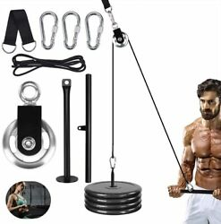 Jecxep Forearm Wrist Roller Training Equipment Pulley Heavy Duty Pulley System