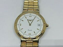 Longines Watch Conquest Quartz Date Gold Plated Womens Watch - Vintage