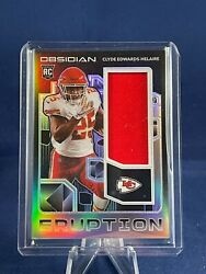 Clyde Edwards-helaire 2020 Panini Obsidian Eruption Rc Patch 94/100 Chiefs