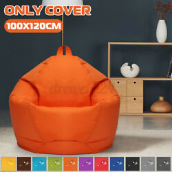 100120 Bean Bag Chair Sofa Cover Indoor Outdoor Gaming Gamer Seat No