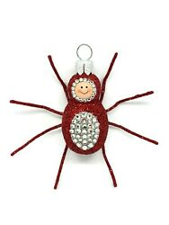 Patricia Breen Bijoux Spider Red Jeweled Halloween Holiday Ornament