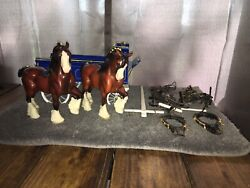 """Breyer2405 Draft Harness Delivery Wagon""""model Horses""""clydesdales Read"""