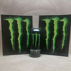 Lot Of 2 Large Monster Energy Claw Logo Stickers Decals Bar / Man Cave / Skater