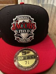 Cleveland Indians New Era Fitted Hat, Jacobs Field Patch Series Rare