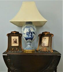 ⭐ Rewired Tall Antique Royal Bonn And Bronze Lamp E F Caldwell. Hubbell Sockets