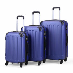 3 Pieces Luggage Set Durable Travel Suitcase With Spinner Wheels 20andrdquo 24andrdquo 28andrdquo