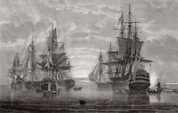 Hms Victory And Admiral Horatio Lord Nelson Ships 1808 Original Engraving Pocock