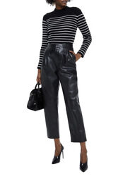 Saint Laurent - Ysl- Tapered Leather Trousers Pants - With Tags- Rrp 5225 Aud