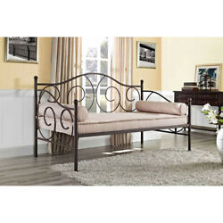 Metal Daybed Frame Lounger Twin Living Room Seat Guest Bed Home Dorm Furniture